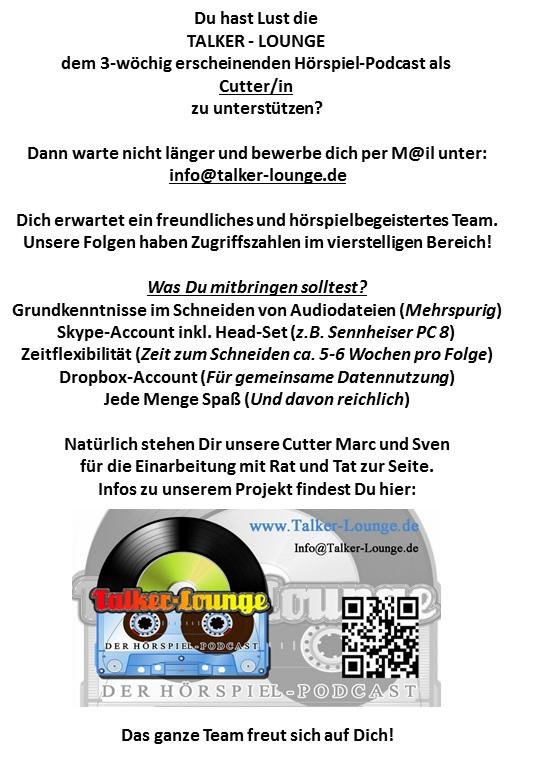 Cuttersuche Mit Visitenkarte Neu Talker Lounge