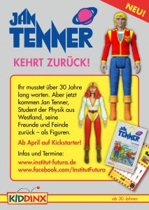 Flyer Seite 1 Jan Tenner Figuren © Institut Futura / © Kiddinx